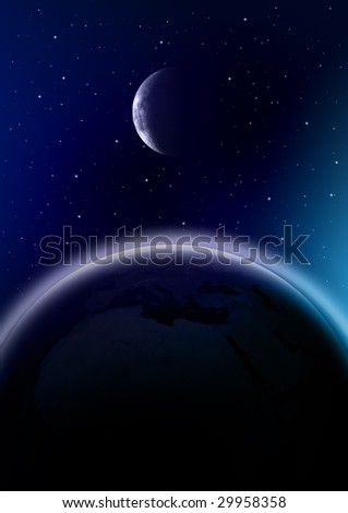 Outer Space - stock photo