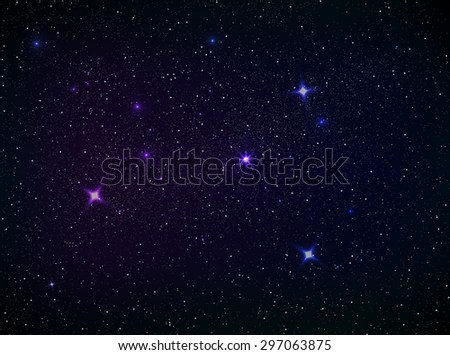 Outer space with lots of colorful stars. - stock photo