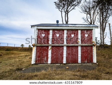Outhouse toilet with four closed and locked doors in rural area of Norway & An Outhouse Stock Images Royalty-Free Images \u0026 Vectors | Shutterstock Pezcame.Com