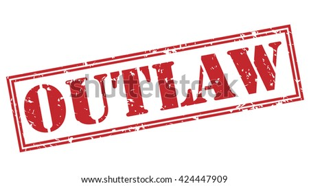 outlaw stamp - stock photo