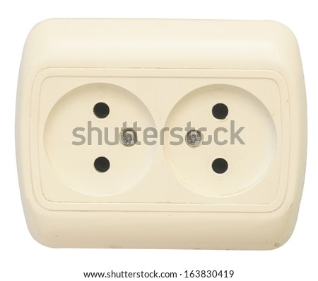 outlet isolated on white background - stock photo