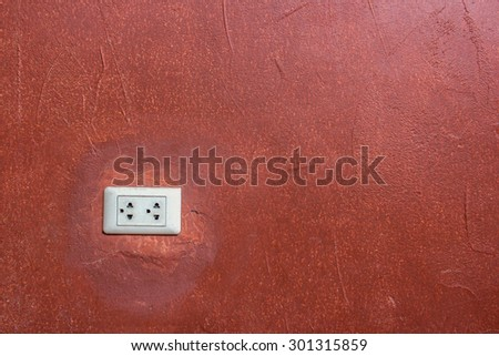 outlet on wall - stock photo
