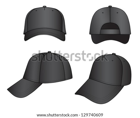 Outline cap illustration isolated on white
