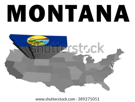 Outline Map United States State Montana Stock Illustration - Empty map of the united states
