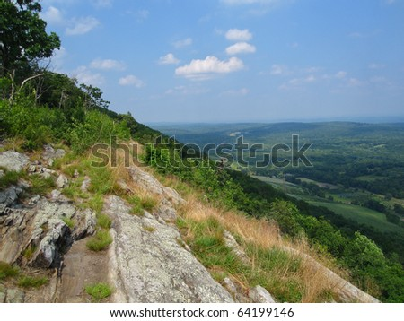Outlook on the Appalachian Trail - stock photo