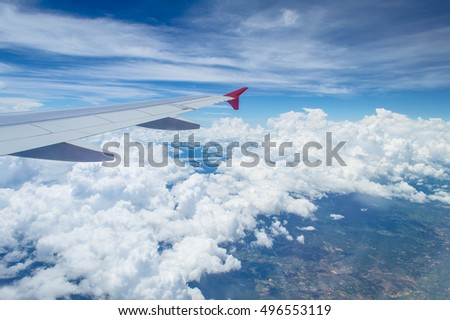 Outside view on aeroplane