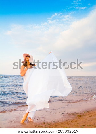 Outside Woman Sport  - stock photo
