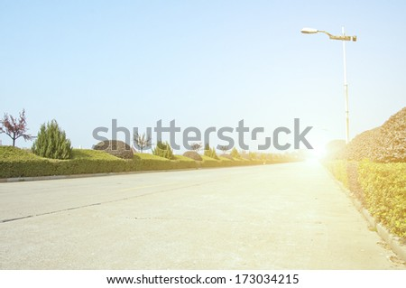 outskirt road - stock photo