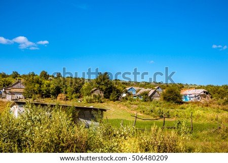 Outskirts of an old village in eastern europe