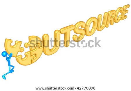 Outsource Puzzle - stock photo