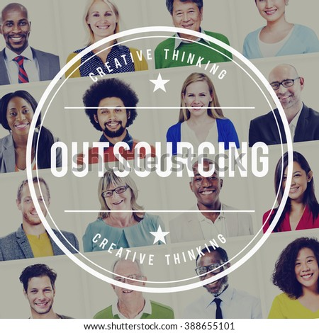 Outsourcing Contract Subcontract Supplier Concept - stock photo