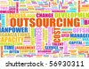 Outsourcing for a Company Concept as Background - stock photo