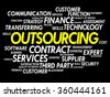 Outsourcing Word cloud business concept background - stock vector