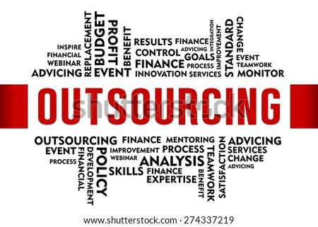 OUTSOURCING word with business concept