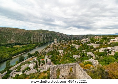 Outstanding panorama of Pocitelj old town, Bosnia and Herzegovina, Europe