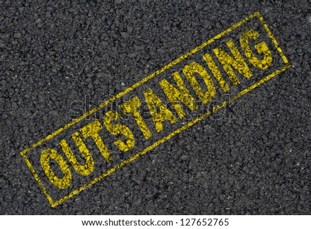 Outstanding stamp background - stock photo