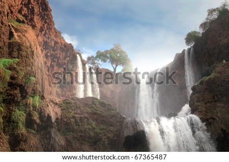 Ouzoud Falls in Morocco - stock photo