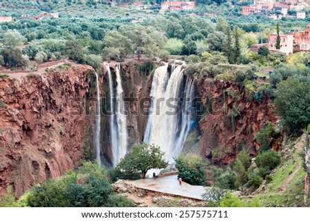 Ouzoud Waterfalls, Grand Atlas village of Tanaghmeilt, Azilal province,  Morocco