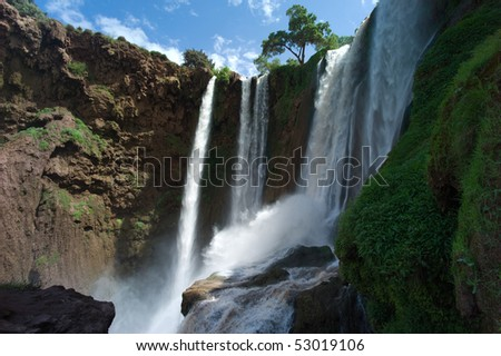 Ouzoud Waterfalls in the Grand Atlas in Morocco - stock photo