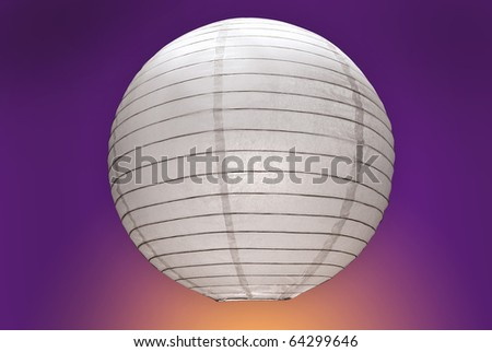 oval interior paper lamp - stock photo