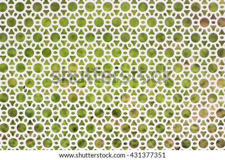 Oval pattern in the garden - stock photo