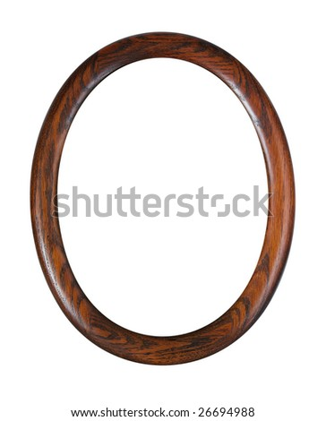 oval photo-frame isolated on white background with clipping path