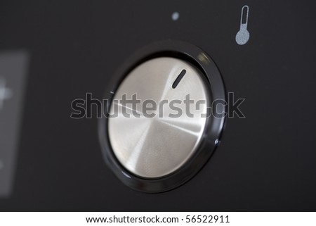Oven button close up