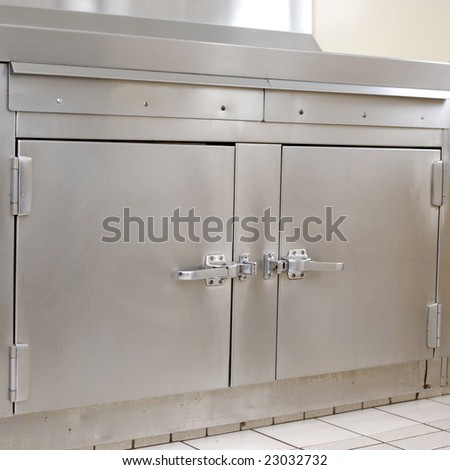 Oven in a commercial kitchen - stock photo