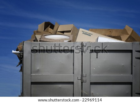 Over flowing garbage - stock photo