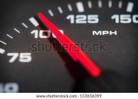 Over hundred miles per hour - stock photo