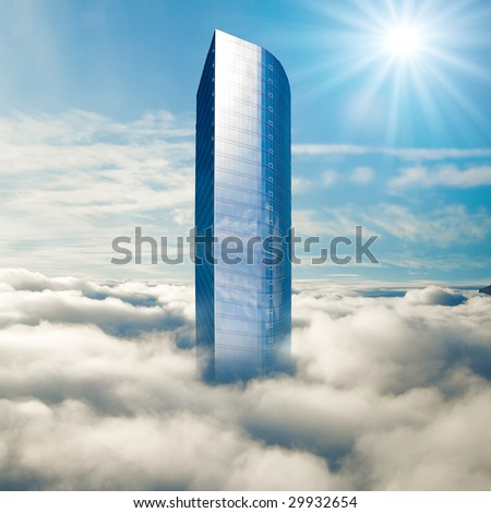 Over the clouds - stock photo