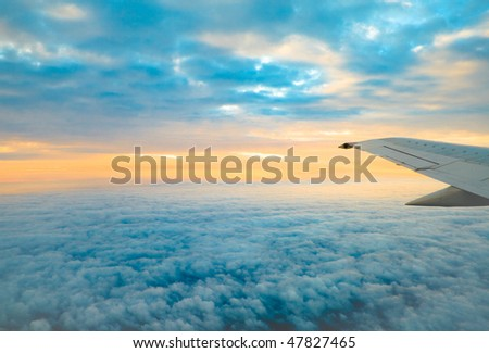 Over the clouds and far away - stock photo