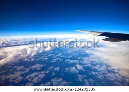Over the Pacific Ocean