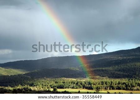 Over the Rainbow - stock photo