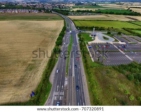 Aerial Street View Drone Photography Stock Photo 707319403