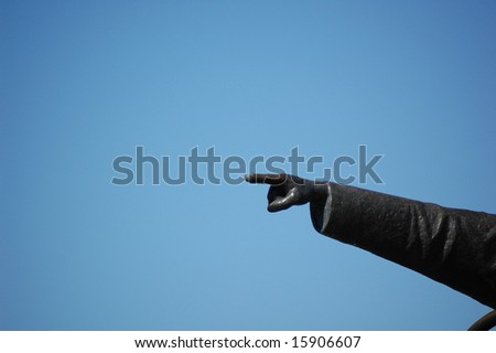 Over there - stock photo