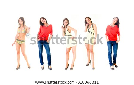 Over White Lifestyle Concept  - stock photo