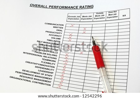 Overall Performance Rating - stock photo