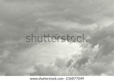 Overcast sky, abstract background - stock photo