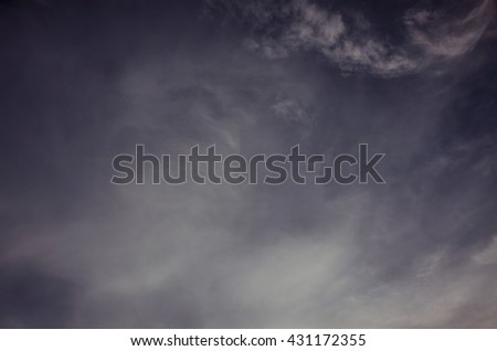 overcast sunset before rain and storm  - stock photo