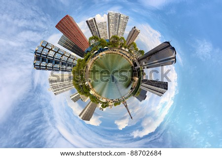 Overcrowding in the big city - a vision of humorous. - stock photo