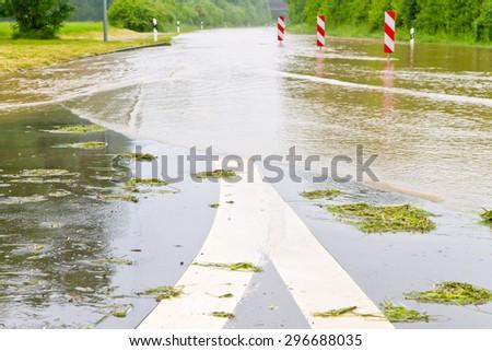 Overflowed street  - stock photo