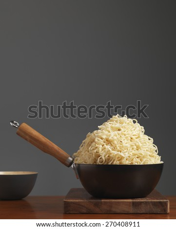 Overflowing bowl of Noodles
