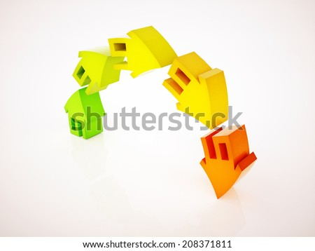 overheating of real estate market - stock photo