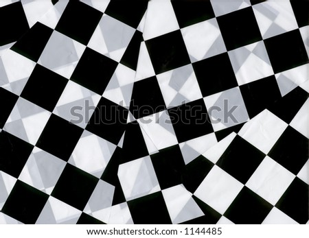 overlapping checkered flags