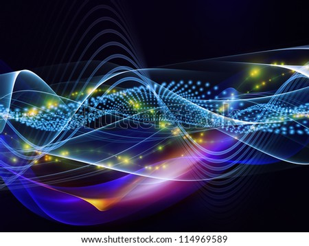 Overlapping sine waves background suitable as a backdrop for projects on technology, entertainment, communications, sound and audio