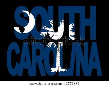 overlapping South Carolina text with their flag illustration JPG