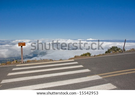 Overlook above cloud line - stock photo