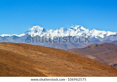 Overlook Cho Oyu. Taken in the way go to Everest base camp.
