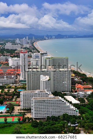 Overlooking the Pattaya City - stock photo